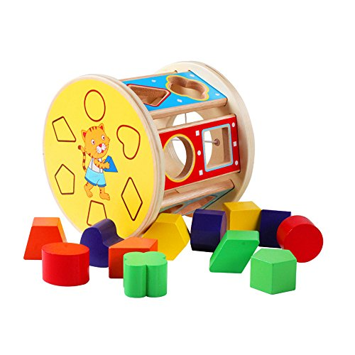 Hong Kong Sevens Costumes 2016 (Sealive 1 Pack Creative 13 Holes Intelligence Box Shape Matching Blocks Wooden Shape Sorter Baby Kids Wooden Educational Toy)