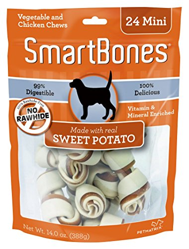 SmartBones Sweet Potato Dog Chew, Mini, 24 pieces/pack by SmartBones