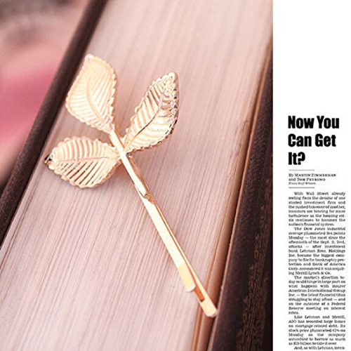 European Gold Leaf (European Style Hair Accessories,Fashion Lovely Leaves Golden Metal Hairpin , Gbell (Gold))