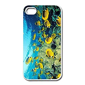Customized Cute Hard Plastic Non-slip Fishes Under Sea Iphone 4s Cases