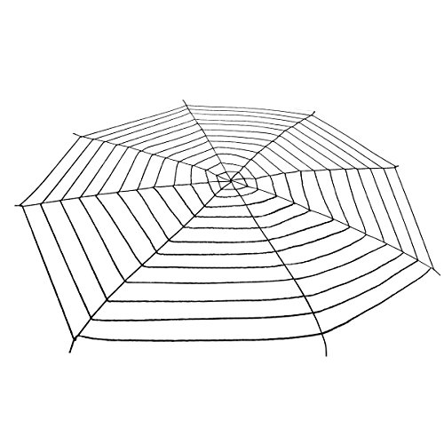 16 4Ft Halloween Black Super Giant Stretch Spider Web For Halloween Decor Decorations Outdoor Yard   Terrify Your Neighbors