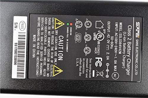 AD 42V//54.6V 2A Cargador de bater/ía XLR Cabezal para bater/ía de Bicicleta de Litio 36V//48V sans