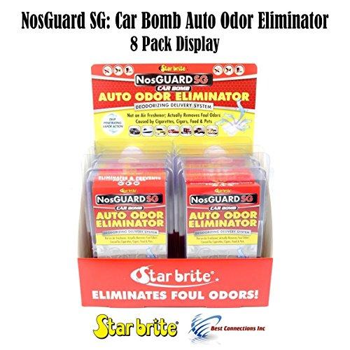 Auto Odor Eliminator Control System Car Bomb Star Brite 19908 * 8 Pack Display*