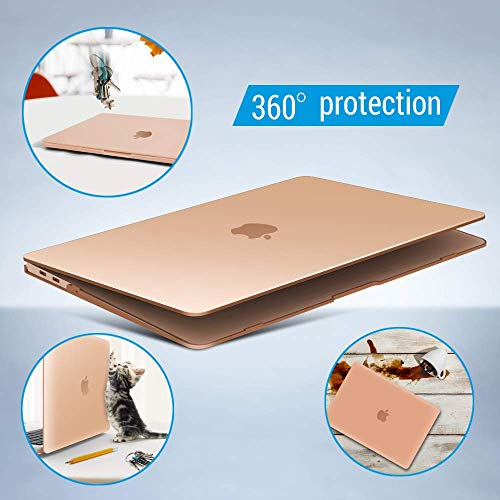 iBenzer MacBook Air 13 Inch Case 2018 Release New Version A1932, Soft Touch Hard Case Shell Cover for Apple MacBook Air 13 Retina with Touch ID, Crystal Clear, MMA-T13CYCL by IBENZER (Image #9)