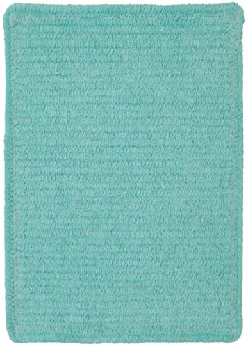 Capel Rugs Custom Classics Cross Sewn Rectangle Braided Area Rug, 10 x 14', Island Blue (Capel Rugs 10)