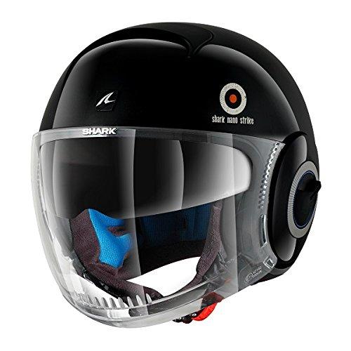 Nano Strike de tiburón casco de diseño con cara al descubierto personalizado de punto de cruz Cruiser para Moto y casco de: Amazon.es: Ropa y accesorios