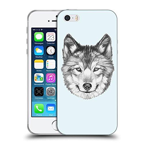 GoGoMobile Coque de Protection TPU Silicone Case pour // Q05430619 Portrait loup Bulles // Apple iPhone 5 5S 5G SE