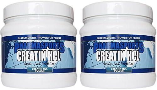 Creatin HCL 500g 100% Pure Creatin Hydrochlorid bis 70x Stärkster Creatin Mono