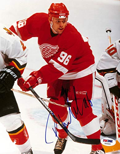 (Red Wings Tomas Holmstrom Authentic Signed 8x10 Photo Autographed PSA #U66589)