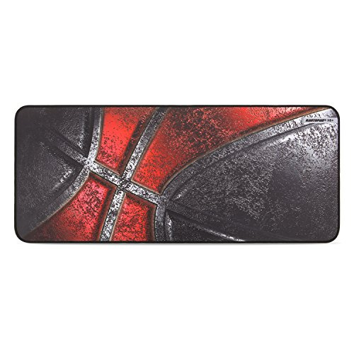 51pkWaIiPKL - Rantopad Cloth Extended Gaming Mouse Pad & Keyboard Pad with Stitched Edges, Rubber Base