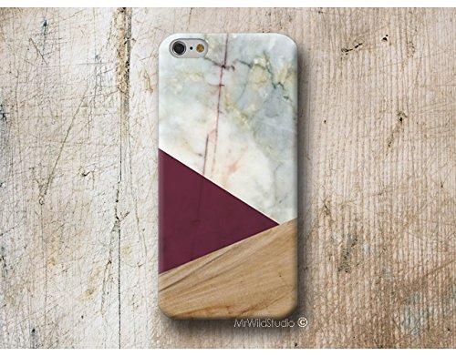 Burgund Holz Weiß Marmor Handy Hülle Handyhülle für Samsung Galaxy S9 S8 Plus S7 S6 Edge S5 S4 mini A3 A5 J3 J5 J7 Note 9 8 5 4 Core Grand Prime