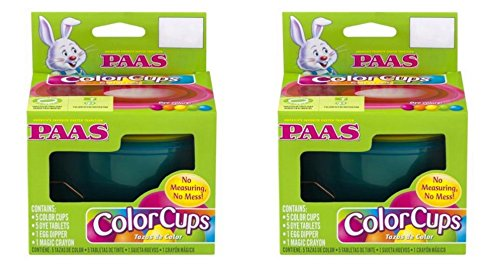 Paas Easter Egg Color Cups 2 Pack (Deluxe Egg Decorating Kit) -
