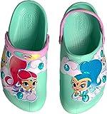 Crocs Girls' FL Shimmershine Lights CLG K Clog, New Mint, 2 M US Little Kid