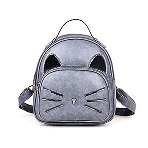 Forthery Women Fashion Causal Cat Backpack Travel Handbag School bags Rucksack Daypack (Gray)