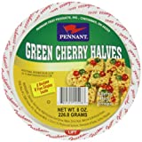 Pennant Green Cherry Halves, 8 Ounce