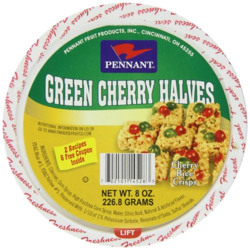 - Pennant Green Cherry Halves, 8 Ounce
