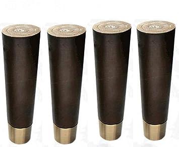 Size : 10cm WaiMin Muebles de madera maciza Pie Mesa de centro Sof/á Pata de madera Pata Pata Patas del gabinete Patas un paquete de cuatro