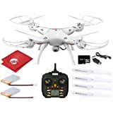 Dynamic Aerial Systems X4 Spartan 2.4GHz 4CH 6-Axis Gyro RC Quadcopter Drone with 2MP Camera + LED Lights + 2 Batteries