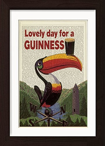 - Lovely Day For A Guinness Ready To Frame Mounted /Matted Dictionary Art Print