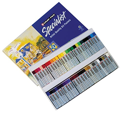 Sakura Cray-Pas Non-Toxic Specialist Oil Pastel, 2/5 X 2/5 X 2-1/2 in, Assorted Color, Pack of 50
