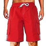 Men's Swim Trunks, Beach Shorts with Mesh Lining