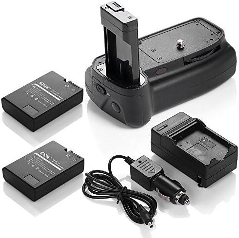 DSバッテリーグリップ+ 2x en-el14電池+充電器for Nikon d3100d5100