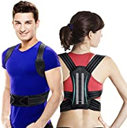 VOKKA Posture Corrector for Men and Women, Spine and Back Support, Providing Pain Relief for Neck, Back, Shoul
