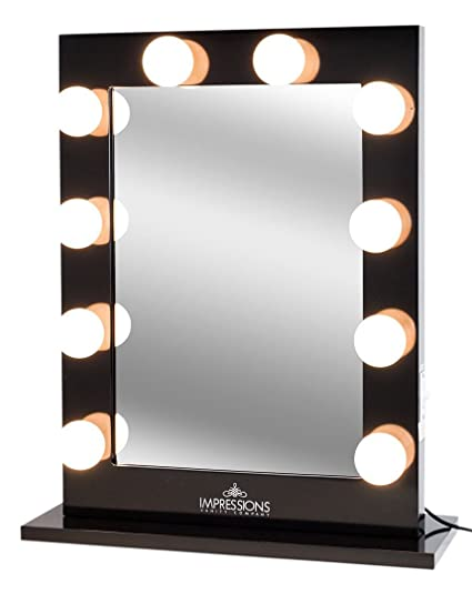 Amazon impressions vanity hollywood studio lighted make up impressions vanity hollywood studio lighted make up vanity back stage mirror black x mozeypictures Choice Image