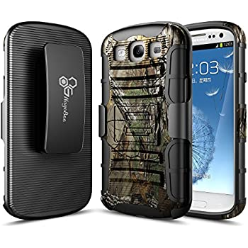 Galaxy S3 Case, NageBee [Heavy Duty] Armor Shock Proof Dual Layer [Swivel Belt Clip] Holster with [Kickstand] Combo Rugged Case For Samsung Galaxy S3 S III I9300 GS3 All Carriers - Camouflage