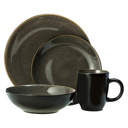 Threshold Belmont 16-piece Dinnerware Set Grey  sc 1 st  Amazon.com & Amazon.com | Threshold Belmont 16-piece Dinnerware Set Grey ...