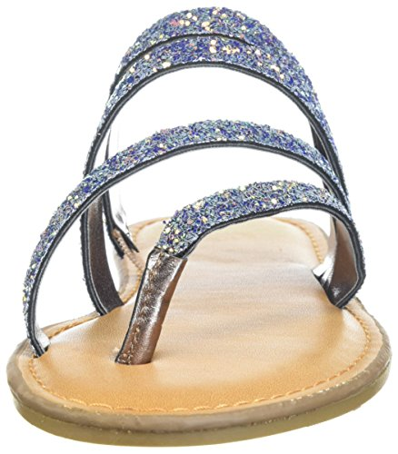 Fergalicious Womens Delaney Flat Sandal White / Multi