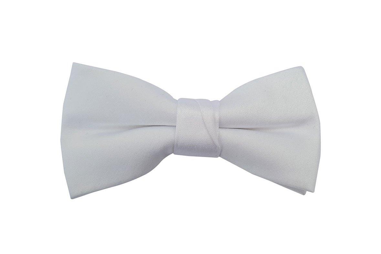 White Baby Toddler Ring Bearer Kids Bow Tie (small, white)