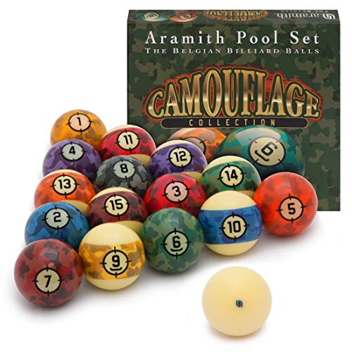 Aramith Camouflage Billiard Pool Ball Set 2 1/4
