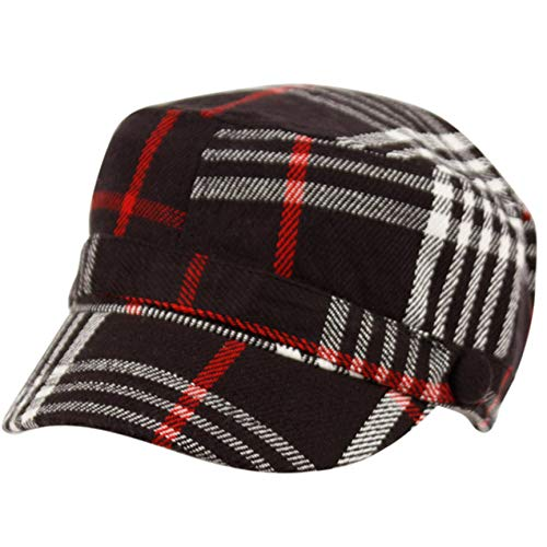 Super Soft Cashmere Feel Classic Cadet Army Cap Hat (Black)