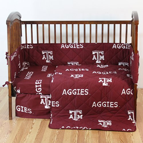 (College Covers Texas A&M Aggies 5 Piece Baby Crib Set )