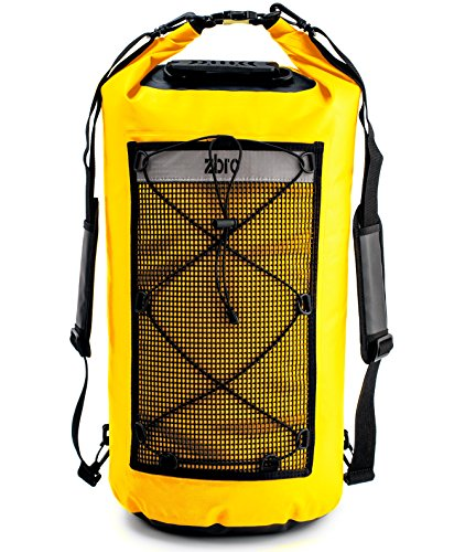 ZBRO Waterproof Drybag Backpack with 2 Pockets - 20L 30L 40L - Padded Straps and Reflective Stripe