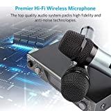 ARCHEER UHF Wireless Microphone System with Dynamic LCD Display Dual Channel Handheld Microphones Karaoke Mixer for outdoor wedding, Conference, Karaoke, Evening Party
