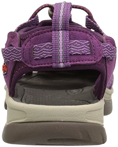 Wine Senderismo 0 para Grape de Whisper Keen Kiss Mujer Sandalias Morado Grape fvq6txw7