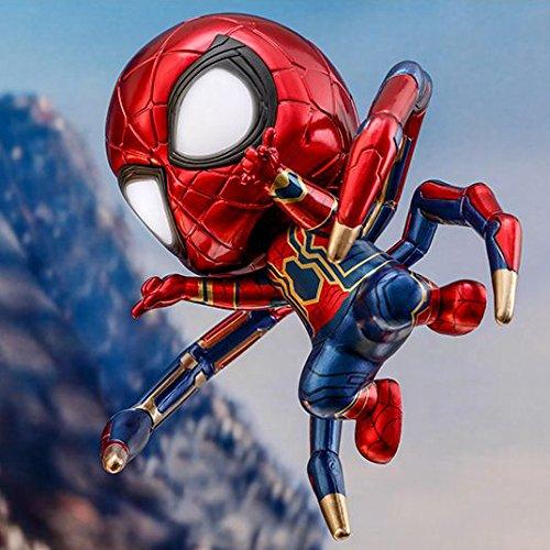 ホットToys Cosbaby Bobble Head War Figure Iron 3 Spider - Man B07FDWCPPN LED Light Up関数Avengers 3 infinity War Marvel Disney元cosb431 B07FDWCPPN, トミーズガレッジ:fd34d427 --- itxassou.fr