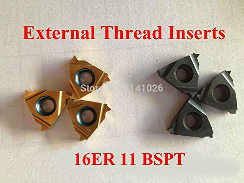 1 lot 16ER 11BSPT Carbide Threading Inserts External Threading Insert Indexable Lathe Inserts for Threaded Cutter Lathe Tool