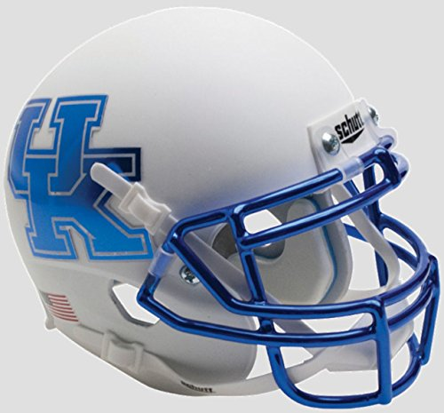 (Kentucky Wildcats Alternate White Chrome Schutt Authentic Mini Helmet)