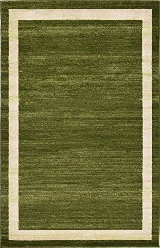 - Unique Loom Del Mar Collection Contemporary Transitional Green Area Rug (5' 0 x 8' 0)