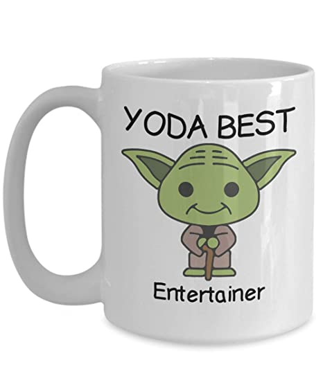 e661a0c121 Novelty Gift Mug for Star Wars Fans - Yoda Best Entertainer - Co-Workers  Birthday