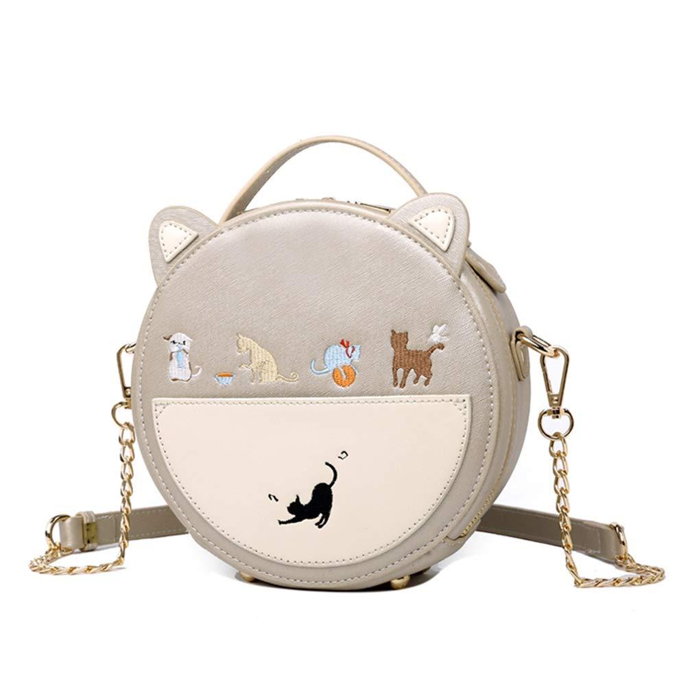 Color : Gold LEYOUDIAN Kuabao Small Bag Girl Small Round Bag Messenger Bag Chain Mini Bag Small Fresh Cute Cute