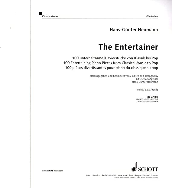 The Entertainer – divertissante de Piano de 100 embouts de ...