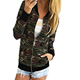 Sunfei Women Camouflage Jacket Coat Autumn Winter Street Jacket (L)