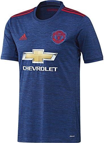 adidas MUFC A JSY Deuxième T Shirt de Club Manchester United 201516 pour Homme, BleuRouge