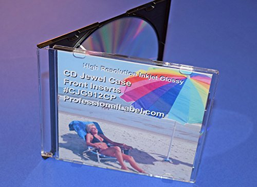 (CD Jewel Case Glossy Insert Front Cover 25 sheets (50 inserts) CJG912CP)