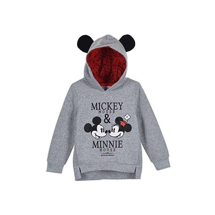51pkeIrp VL Sudadera con capucha para niñas Mickey y Minnie Mouse Material: 65% algodón, 35% poliéster. 65% Poliã, 35% Ster