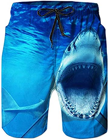 74ccfc9a432a8e Loveternal Mens Beach Shorts Quick Dry Beach Pants with Pockets Printed  Swim Trunks